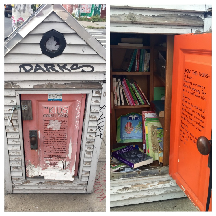 Children's book exchange on Bogart Street